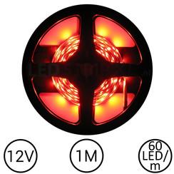 LEDStrip Rood 1 Meter 60 LED 12 Volt