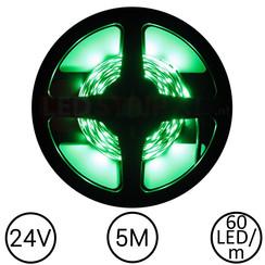 LEDStrip Groen 5 Meter 60 LED 24 Volt