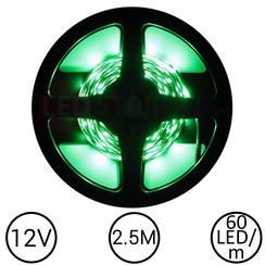 LEDStrip Groen 2,5 Meter 60 LED 12 Volt