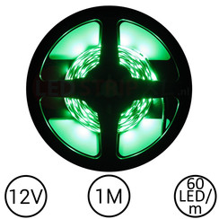 LEDStrip Groen 1 Meter 60 LED 12 Volt