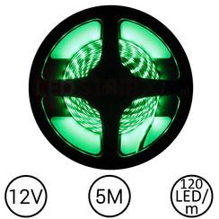 LEDStrip Groen 5 Meter 120 LED 12 Volt