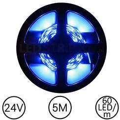 LEDStrip Blauw 5 Meter 60 LED 24 Volt