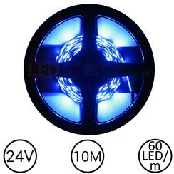 LEDStrip Blauw 10 Meter 60 LED 24 Volt