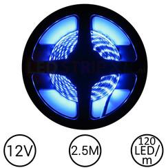 LEDStrip Blauw 2,5 Meter 120 LED 12 Volt