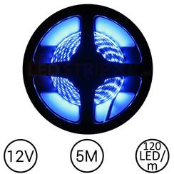 LEDStrip Blauw 5 Meter 120 LED 12 Volt
