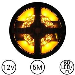 LEDStrip Geel 5 Meter 60 LED 12 Volt