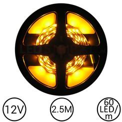 LEDStrip Geel 2,5 Meter 60 LED 12 Volt