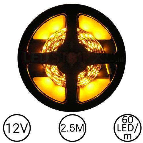LEDStrip Geel 2,5 Meter 60 LED per meter 12 Volt