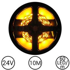 LEDStrip Geel 10 Meter 60 LED 24 Volt