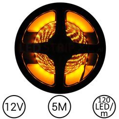 LEDStrip Geel 5 Meter 120 LED 12 Volt