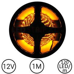 LEDStrip Geel 1 Meter 120 LED 12 Volt
