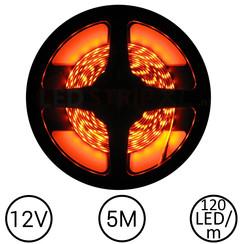 LEDStrip Oranje 5 Meter 120 LED 12 Volt