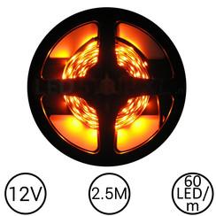 LEDStrip Oranje 2,5 Meter 60 LED 12 Volt