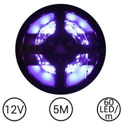 LEDStrip Paars 5 Meter 60 LED 12 Volt
