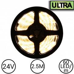 24V LED Strip Warm Wit 2.5 Meter 60 LED - Ultra
