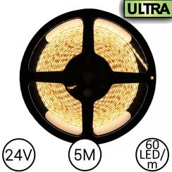 24V LED Strip Warm Wit 5 Meter 120 LED - Ultra