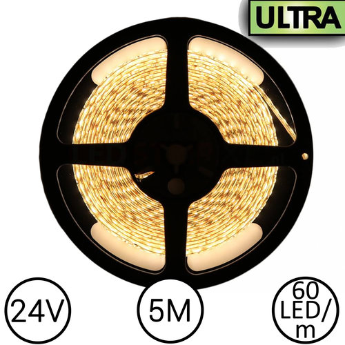 24V LED Strip Warm Wit 5 Meter 120 LED per meter - Ultra