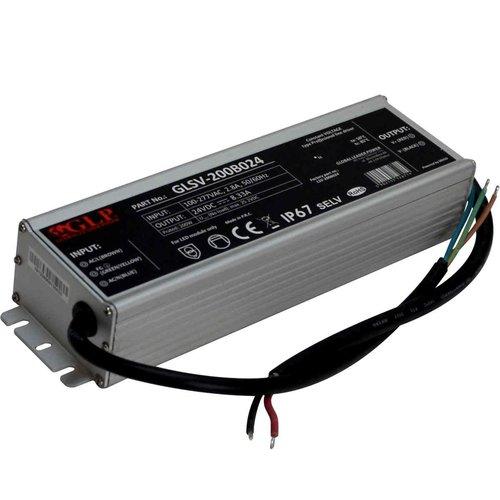 GLP 24 Volt 200 Watt IP67 Spatwaterdichte LED Voeding