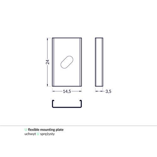 TOPMET Bevestigingsklem voor 10mm Profielen U Flexible