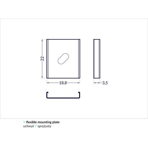 TOPMET Bevestigingsklem voor 14mm Profielen Y Flexible