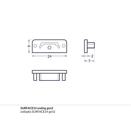 TOPMET Surface14 Einddop Wit