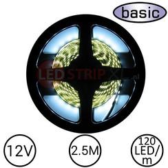 LEDStrip Koud Wit 2.5 Meter 120 LED 12 Volt - Basic