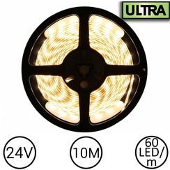 24V LED Strip Warm Wit 10 Meter 60 LED - Ultra