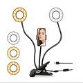 LED ringlamp met telefoonhouder - 2 LED ringen - 3 lichtstanden voor selfies/vlogs