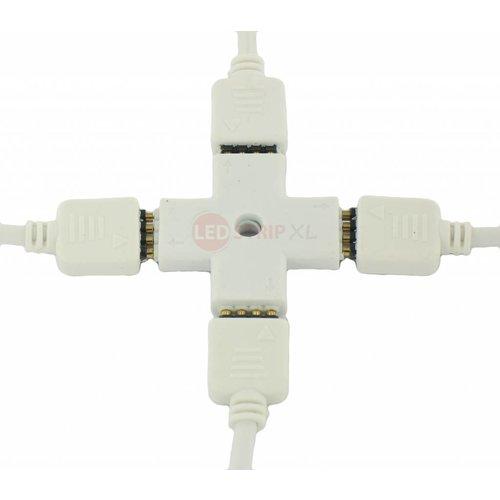 Spliter Connector voor RGB LED Strips 4 hoeken