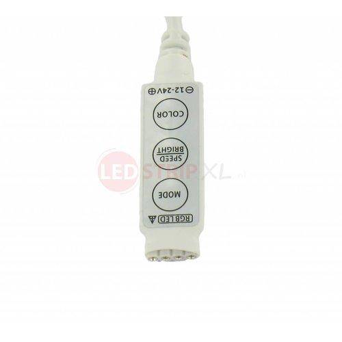 Mini controller en dimmer voor RGB ledstrips 12-24V