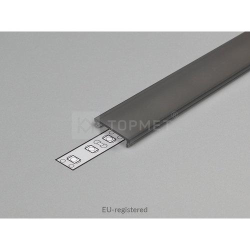 TOPMET Zwarte Click-Cover 1m voor 14mm TOPMET profielen