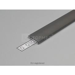 Zwarte Click-Cover 2m voor 14mm TOPMET profielen