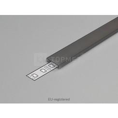 Zwarte Click-Cover 1m voor 10mm TOPMET profielen