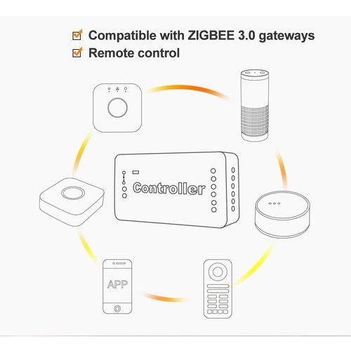 GLEDOPTO Zigbee PRO Single Color LED Strip Dim Controller 12 ~ 54 Volt Philips Hue Compatible