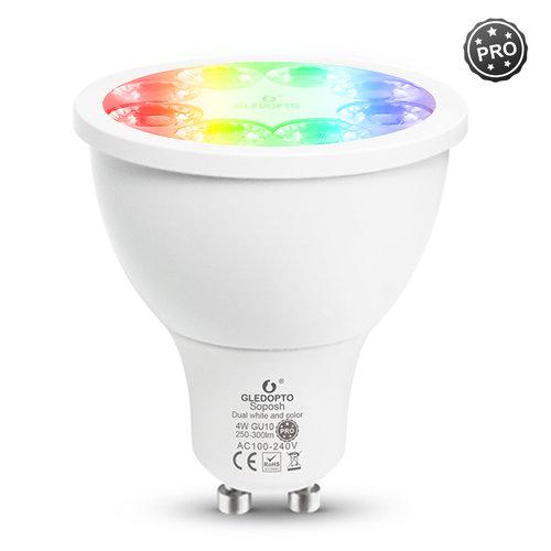 GLEDOPTO Zigbee PRO Color and White 4 Watt GU10 Spot 25° lens Philips Hue Compatible