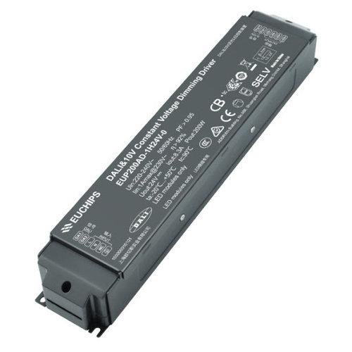 Euchips Dali en 1-10v LED Driver 200 watt 24 volt