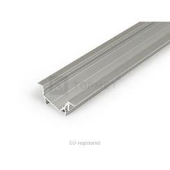 14mm Aluminium Inbouw Hoek Profiel 2 meter Zilver DIAGONAL14