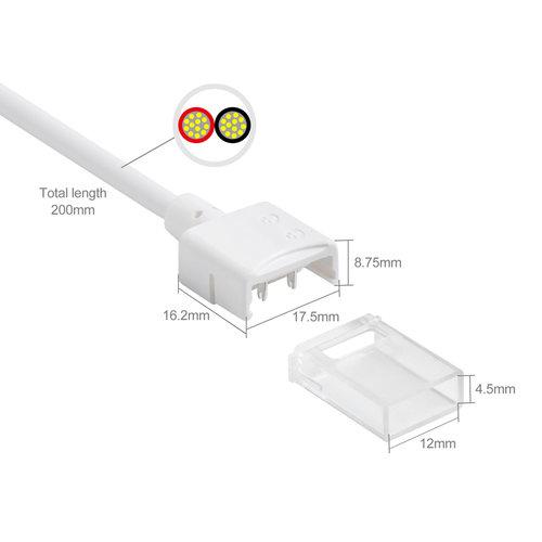 Led strip koppelstuk naar 2-aderig enkelkleurige signaal kabel