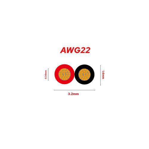 10 Meter Stroomdraad 2 aderig Rood / Zwart