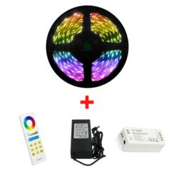 5 Meter 60 LED/m RGB LEDStrip Compleet met Luxe Afstandsbediening