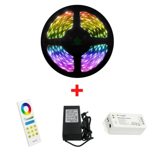 5 Meter RGB 60 LED/m LEDStrip Compleet met Luxe Afstandsbediening