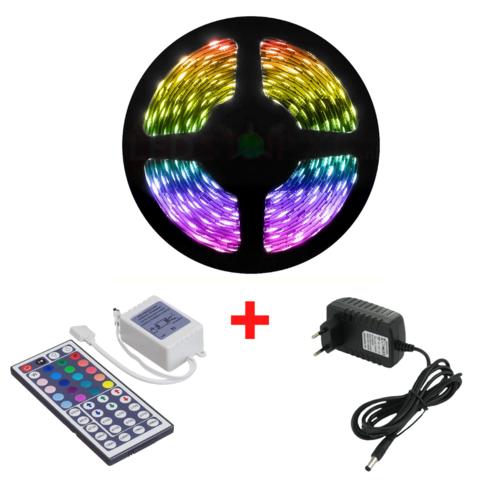 5 Meter 30 LED/m RGB LEDStrip Compleet met Afstandsbediening