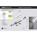 TOPMET Opbouw / Inbouw Profiel 2 Meter UNI12