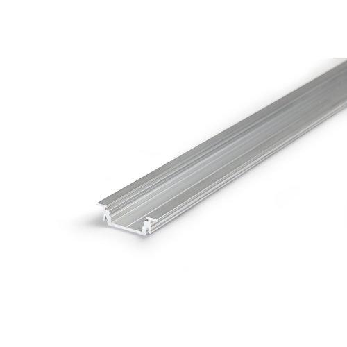 TOPMET Aluminium inbouw profiel voor 14mm strips 2 meter Groove14
