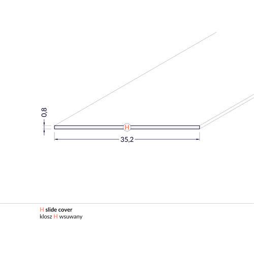 TOPMET Milky Cover 2 meter voor profiel met verticale schijnhoek FLAT8