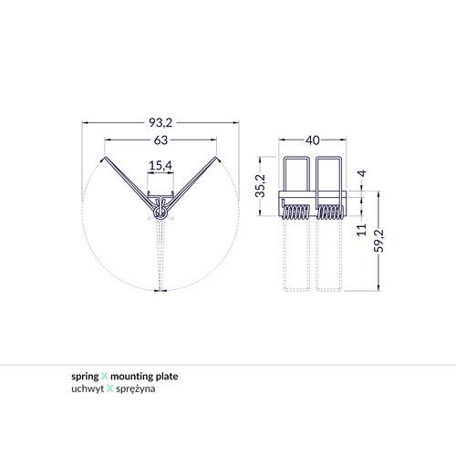 TOPMET Mounting Spring Bevestigingsklem X voor Flat8, Groove10, Corner27, Corner10,