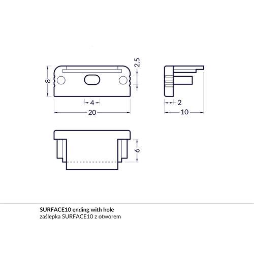 TOPMET Surface10 Einddop Wit