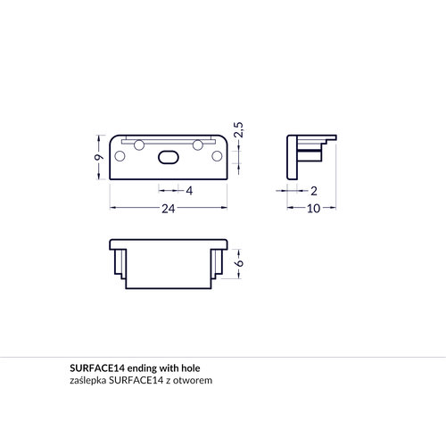 TOPMET Surface14 Einddop Zilver GEN1