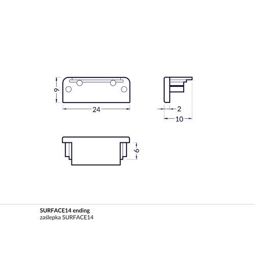 TOPMET Surface14 Einddop Grijs GEN1