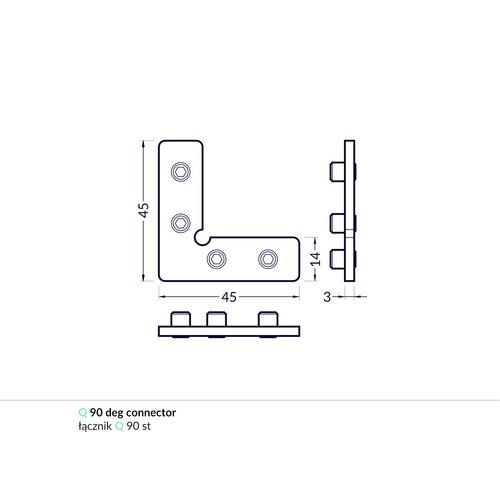 TOPMET Frame14 Q Connector 90°